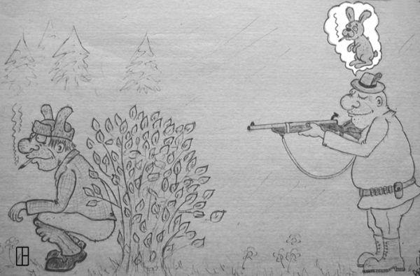 Карикатура: Роковая ошибка., Олег Тамбовцев