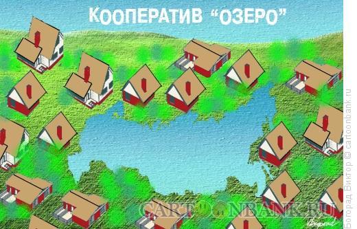 Карикатура: Кооператив  Озеро, Богорад Виктор