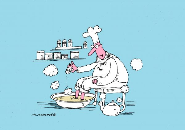 Карикатура: повар, михаил ларичев