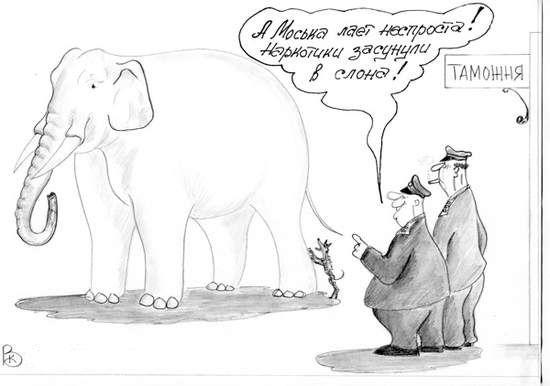 Карикатура: Таможня, Валерий Каненков