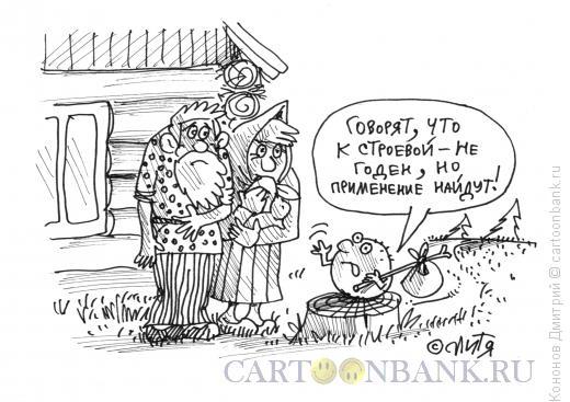 Карикатура: призыв колобка в армию, Кононов Дмитрий