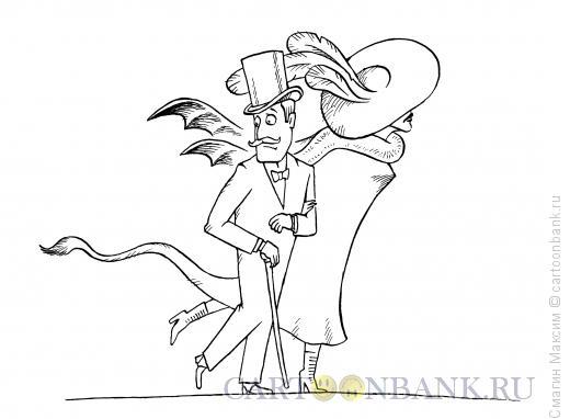 Карикатура: Демоническая женщина, Смагин Максим
