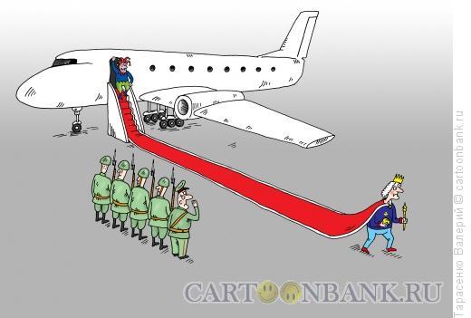 Карикатура: Встреча знаменитости, Тарасенко Валерий