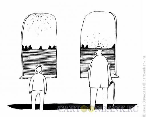 Карикатура: Два солнца, Шилов Вячеслав