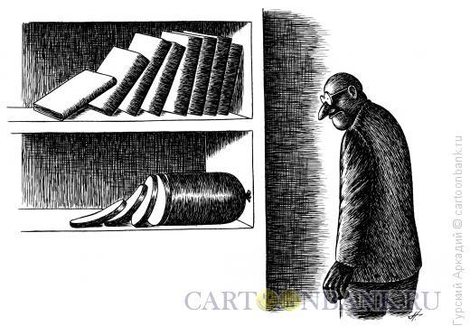 Карикатура: книжные полки, Гурский Аркадий