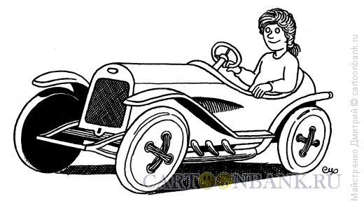 Карикатура: Пришитые колеса, Майстренко Дмитрий