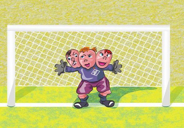 Карикатура: Вратарь.