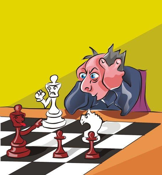 Карикатура: Шахматист., владимир ву