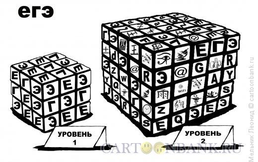 Карикатура: ЕГЭ - это не экзамен!, Мельник Леонид