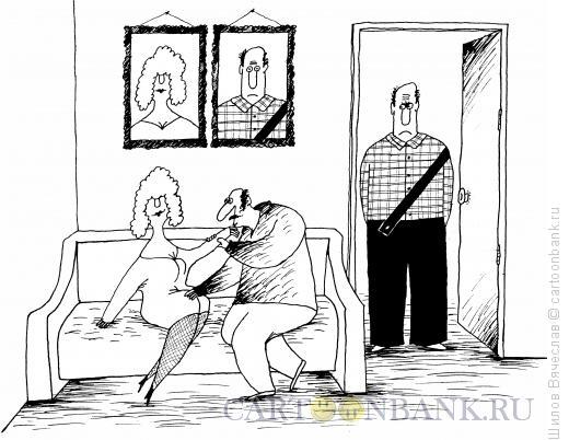 Карикатура: Якобы вдова, Шилов Вячеслав