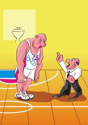 Карикатура: Баскетбол.