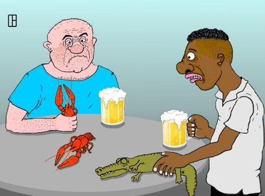 Карикатура: Какая гадость!, Олег Тамбовцев