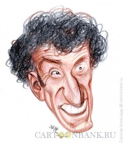 Карикатура: Губерман Игорь, поэт, Сергеев Александр