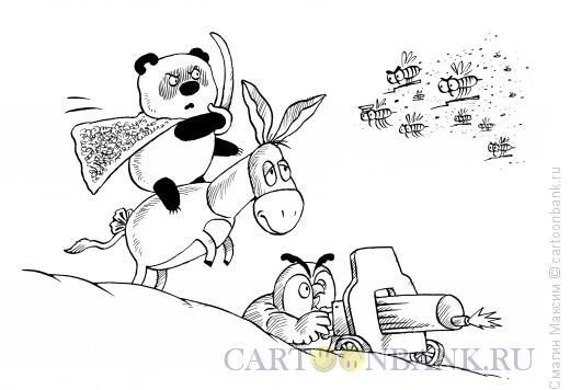 Карикатура: Пух в бою, Смагин Максим
