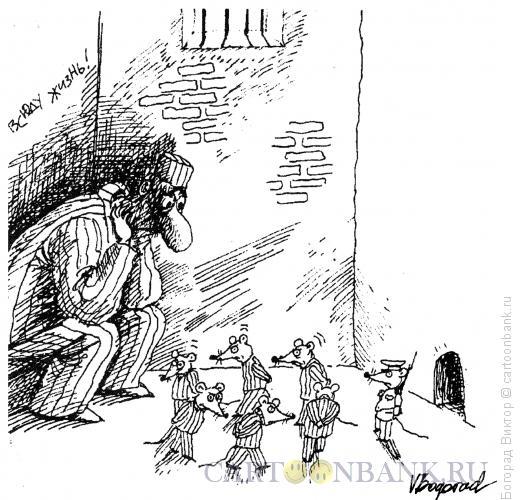 Карикатура: Заключенный и мыши, Богорад Виктор