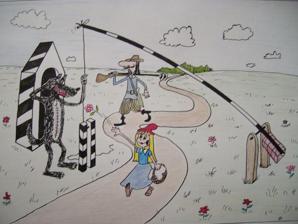Карикатура: Красная шапочка, Петров Александр