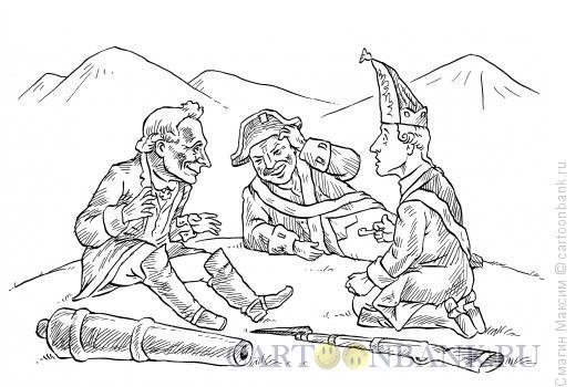 Карикатура: Суворов на привале, Смагин Максим