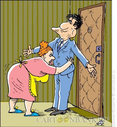 Карикатура: Обыск, Дубинин Валентин