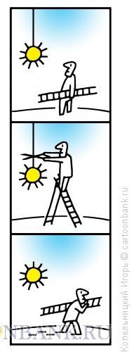 Карикатура: солнце на нитке, Копельницкий Игорь