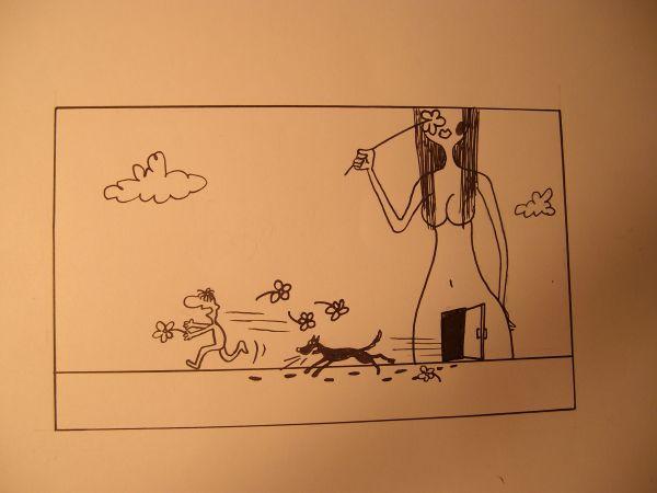 Карикатура: Психованная, Петров Александр
