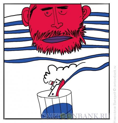 Карикатура: матрос, Новосёлов Валерий