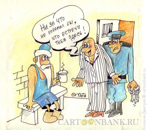 Карикатура: дед мороз в тюрьме, Кононов Дмитрий