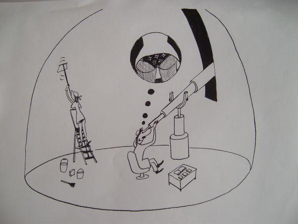 Карикатура: Астроном, Петров александр