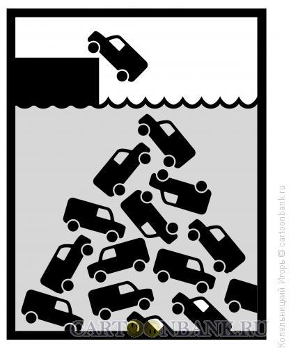 Карикатура: машины падают, Копельницкий Игорь