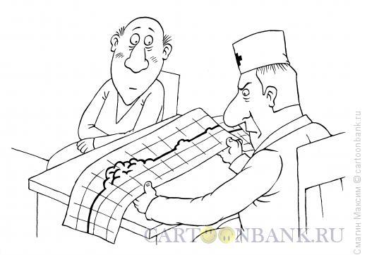 Карикатура: Мозговая деятельность, Смагин Максим
