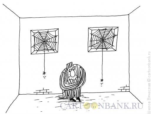 Карикатура: Решетки-паутинки, Шилов Вячеслав