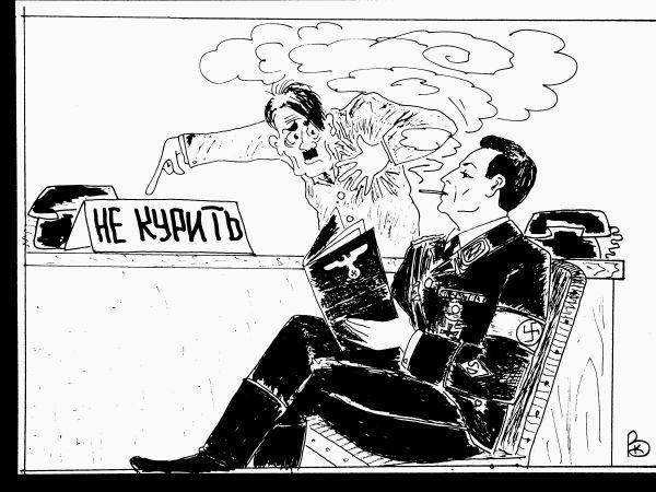 Карикатура: Русскими буквами., Валерий Каненков