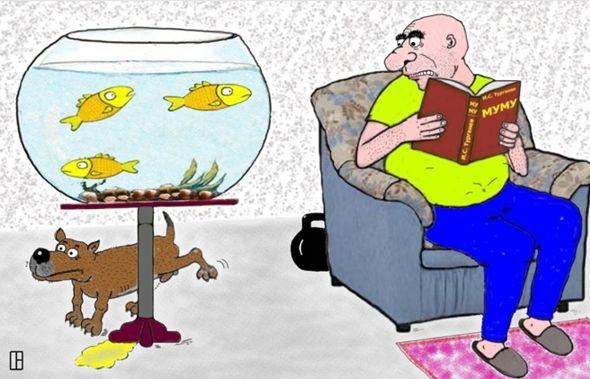 Карикатура: Перечитывая классику, Олег Тамбовцев