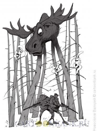 Карикатура: охотники, Новосёлов Валерий