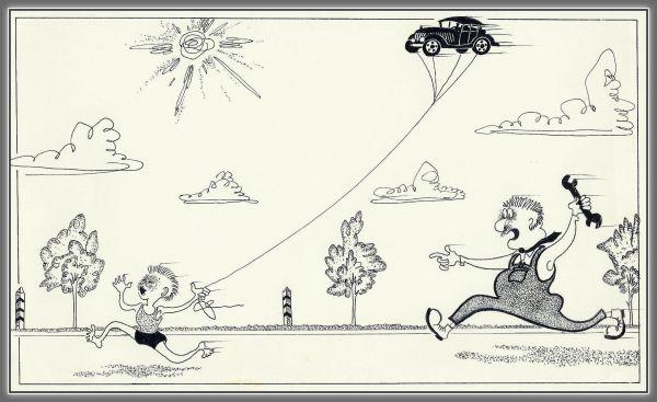Карикатура: воздушный змей, николай ломачинский