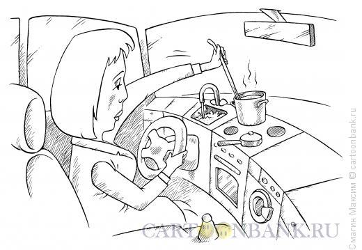 Карикатура: Женщина за рулем, Смагин Максим