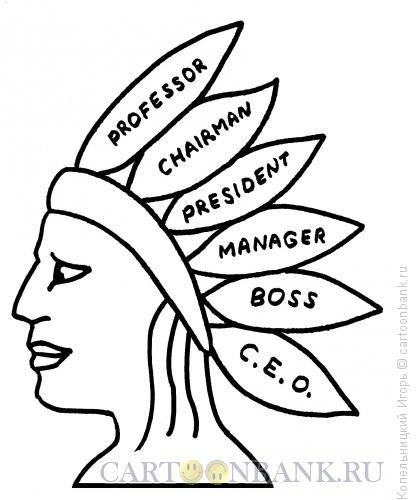 Карикатура: голова индейца, Копельницкий Игорь