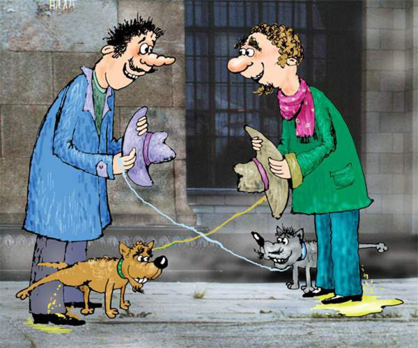 Карикатура: Искусство дипломатии, Алла Сердюкова