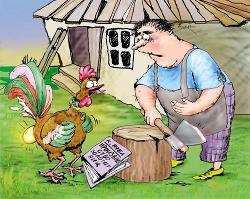 Карикатура: новый уровень жизни, Сердюкова Алла