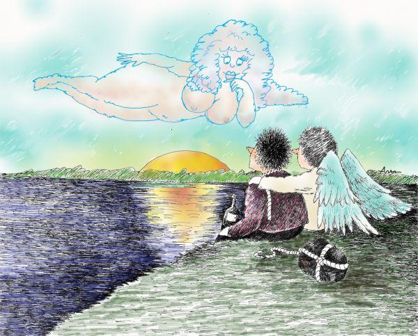 Карикатура: восход, Сердюкова Алла