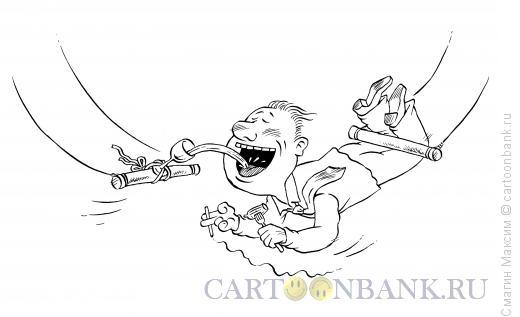 Карикатура: Пьяный цирк, Смагин Максим