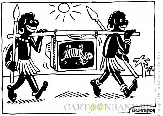 Карикатура: Современная охота, Колгарёв Игорь