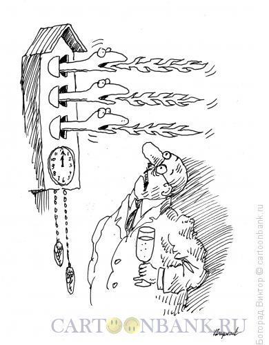 Карикатура: Часы с драконом, Богорад Виктор
