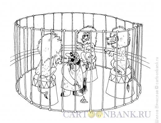 Карикатура: Укротительница, Шилов Вячеслав