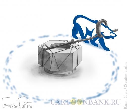Карикатура: Завинчивание гаек, Ёлкин Сергей