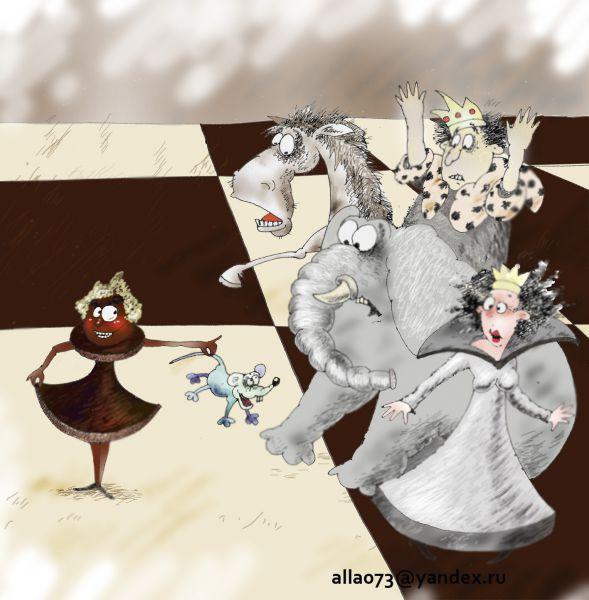 Карикатура: атака, Алла Сердюкова