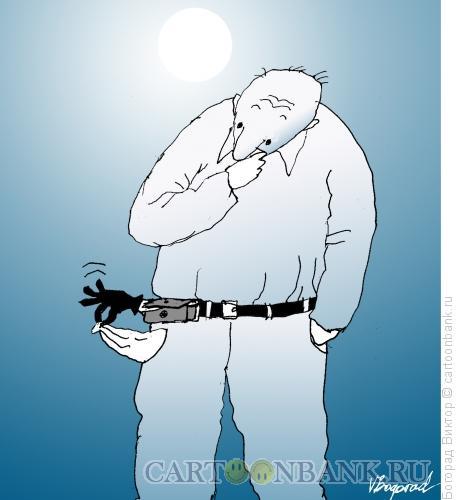 Карикатура: Затраты на мобильник, Богорад Виктор