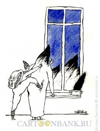 Карикатура: Альпинист, Москин Дмитрий