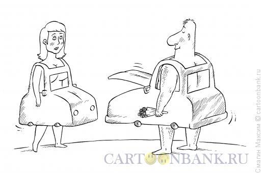Карикатура: Автосвидание, Смагин Максим