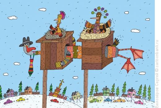 Карикатура: Двоеженец, Белозёров Сергей
