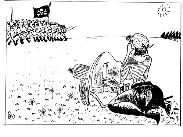Карикатура: Эротическая атака, Валерий Каненков